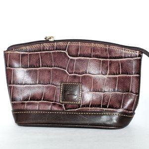 Dooney & Bourke Reptile Leather Zip Pouch
